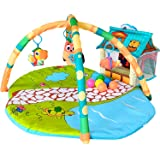 Fun N Well Farmhouse Playtime Baby Gym and Activity Mat | Large & Attractive Play Mat for Infants & Toddlers | Unique 3D Farm