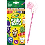 CRAYOLA 68-2112 Silly Scents Coloured Pencils, 12 Colours, Scented Fun, 0.3 x 3.5 x 8.4 inches