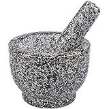 Granite Mortar and Pestle Herb Spice Garlic Crusher Grinder
