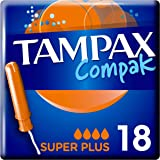 Tampax Compak Super Plus Applicator Tampons 18