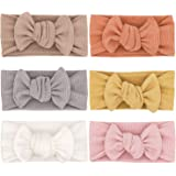Baby Girls Headbands with Bows Infant Toddler Knit Headwrap Hair Accessories