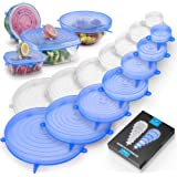 Zulay Kitchen Silicone Stretch Lids (Set Of 14) - Reusable Silicone Lids Stretch & Flexible Design For Various Size Container