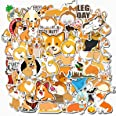 Welsh Corgi Pembroke Stickers for Water Bottles 50 Pack Cute,Waterproof,Aesthetic,Trendy Stickers for Teens,Girls Perfect for