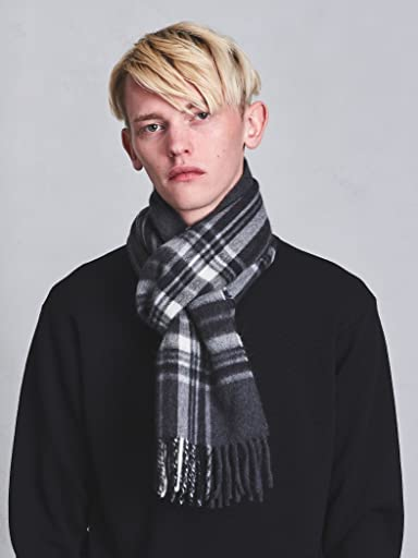 Wool Angora Scarf Stewart 1336-499-3405: Dark Grey
