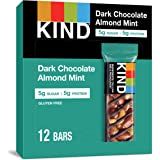 KIND Bars, Dark Chocolate Mint, Gluten Free, Low Sugar, 1.4oz, 12 Count