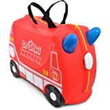 Trunki 0254-GB01 Fire Engine Frank Ride On Suitcase, Red