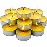 Bulk Pack - 60 Pack Citronella Tealight Candles - Summer Yellow - Indoor / Outdoor