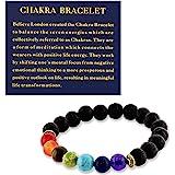 Believe London Gemstone Healing Chakra Bracelet Anxiety Crystal Natural Stone Men Women Stress Relief Reiki Yoga Diffuser Sem
