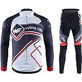サイクルジャージ World Elite サイクルリング ウェア 長袖ジャージ 自転車ウェア