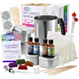 Complete DIY Candle Making Kit Supplies ? Create 4 Large Scented Soy Candles ? Full Beginners Set Including 2 LB Wax Rich Sce