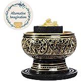 Alternative Imagination Premium Frankincense Burning Kit (Tibetan Incense Burner Brass Screen Burner) (Brass Burner)