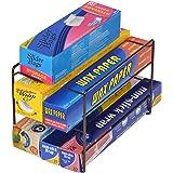 Smart Design 3-Tier Kitchen Wrap Organizer - Sturdy Frame Design - Rust Resistant Finish - Stores 9 Wrap Boxes - for Wraps, F
