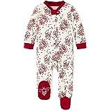 Burt's Bees Baby Unisex Baby Sleep & Play, Organic One-Piece Romper-Jumpsuit PJ, Zip Front Footed Pajama