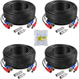 ANNKE 100 Feet (30 meters) 2-In-1 Video/Power Cable with BNC Connectors and RCA Adapters for Video Security Systems (4-Pack B