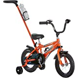 Schwinn Petunia and Grit Steerable Kids Bikes, Featuring Push Handle for Easy Steering, Training Wheels, Enclosed Chain Guard