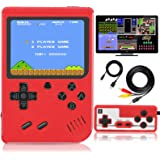 Jueapu Handheld Game Console, 500 Classical FC Games, Built-in 1020mAh Rechargeable Battery Retro Mini Game Console Support f