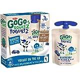 GoGo squeeZ yogurtZ, Blueberry, 3 Ounce (4 Pouches), Low Fat Yogurt, Gluten Free, Pantry-friendly, Recloseable, BPA Free Pouc