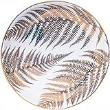 Ceramic Jewelry Ring Dish Tray - Golden Leaves Pattern Jewelry Ring Holder Dish, Display Trinket Dish, Home Decorative Jewelr