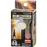 オーム電機 LED電球 レフランプ形 E17 40形相当 人感・明暗センサー付 電球色 LDR4L-W/S-E17 9 06-3413 OHM