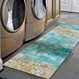 """Pauwer Non Slip Runner Rug Waterproof Natural Rubber Kitchen Runner Laundry Room Floor Mat Doormat Entrance Rug (20""""x48"""", Omb"""