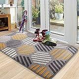 """Color&Geometry Doormat, Outdoor Indoor Waterproof, Non Slip Washable Quickly Absorb Moisture and Resist Dirt Rugs(32""""x40"""")"""