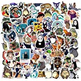 Studio Ghibli Themed 70 Piece Sticker Decal Set for Kids Adults - Laptop Motorcycle Skateboard Decals