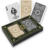 KEM Arrow Black and Gold, Bridge Size- Standard Index Playing Cards (Pack of 2)