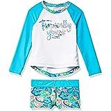 Tommy Bahama Girls' Long Sleeve 2-Piece Rashguard Swimsuit Bathing Suit