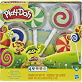 Play-Doh Lollipop 4-Pack of Pretend Play Candy Molds filled with 3 Ounces of Non-Toxic Play-Doh Modeling Compound for Kids 3
