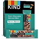 KIND Bars, Dark Chocolate Mint, Gluten Free, Low Sugar, 1.4oz, 12 Count