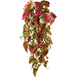 Penn Plax Reptology Climber Vine Reptile Terrarium Plant Decor Red & Green 12inch