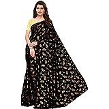 CRAFTSTRIBE Art Silk Designer Sari Indian Saree Party Wear Traditional Foil Print Bollywood Dress Fashion Clothing