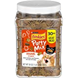 Purina Friskies Made in USA Facilities Cat Treats, Party Mix Original Crunch - 30 oz. Canister