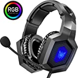 ONIKUMA Gaming Headset - Stereo K8 Gaming Headset for PS4 Xbox One, Noise Cancelling Mic Over Ears Gaming Headphones with Mic