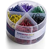 Officemate PVC Free color Coated Paper Clips, 450 Per Tub Office Paper Clamp (97229)