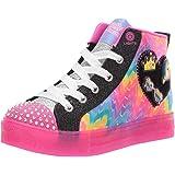 Skechers Shuffle Brights - Mix 'N Patch Girls Sneakers, Black/Multi