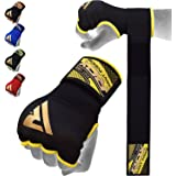 RDX Boxing Hand Wraps Inner Gloves for Punching - Elasticated Padded Bandages Under Mitts - Quick Long Wrist Support, Fist Pr