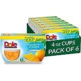 Dole Fruit Bowls, Mandarin Oranges in Juice, 4 Cups (Pack of 24)