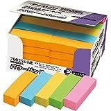 ポストイット 強粘着 付箋 見出し ネオンカラー 50×15mm 90枚×50パッド 7002SS-NE