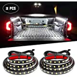Nilight 2PCS 60'' 180 LEDs Bed Strip Kit with Waterproof On/Off Switch Blade Fuse 2-Way Splitter Extension Cable for Cargo, P