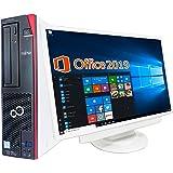 富士通 デスクトップPC D586/22型液晶セット/MS Office 2019/Win 10/Core i5-6500/wajun(ワジュン)WIFI/Bluetooth/DVD-RW/8GB/1TB SSD(整備済み品)