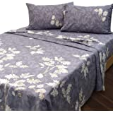 Essina 100% Cotton King Bed Sheet Set 4pc Pictorial Collection, 620 Thread Count, King Sheet deep Pocket, Mistral