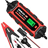 GOOLOO S10 6V/12V Smart Car Battery Charger Automotive, 10 Amp Automatic Trickle Charger and Maintainer with Supply Mode, IP6