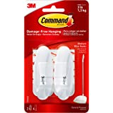 Command Wire Hooks, Medium, White, 2-Hooks (17068ES)