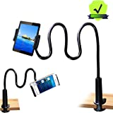 Tablet Stand Holder, Mount Holder Clip with Grip Flexible Long Arm Gooseneck Compatible with ipad iPhone/Nintendo Switch/Sams