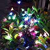 Solar Garden Decorative Lights Outdoor,Beautiful LED Solar Powered Fairy Landscape Tree Lights,Two Mode Flower Lights for Pat