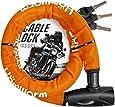 Homwarm バイクロック チェーンロック バイク 自転車 ワイヤーロック φ(直径)22mm×1200mm 頑丈 盗難防止 鍵3本セット