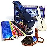 Pick-a-Palooza DIY Guitar Pick Punch Mega Gift Pack - the Premium Pick Maker - Leather Key Chain Pick Holder, 15 Pick Strips