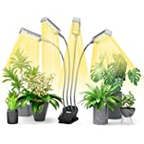 Plant Grow Light, Indoor Full Spectrum Grow Lamp with Display Timer, Led Interior Grow Light with Desk Clip for Plants Seedli