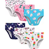 Blooven Girls' Underwear Soft Cotton Seamless Toddler Panties Briefs (Pack of 6)